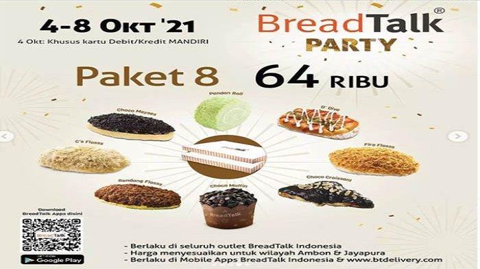 PROMO BreadTalk Hari Ini 6 Oktober 2021 Hingga 8 Oktober, Promo Paket 8 Roti Hanya 64 Ribu