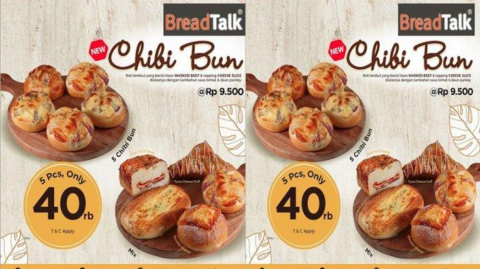 PROMO BreadTalk Juli 2020, Ada Chibi Bun dengan 5 Roti Lembut Hanya Rp 40 Ribu