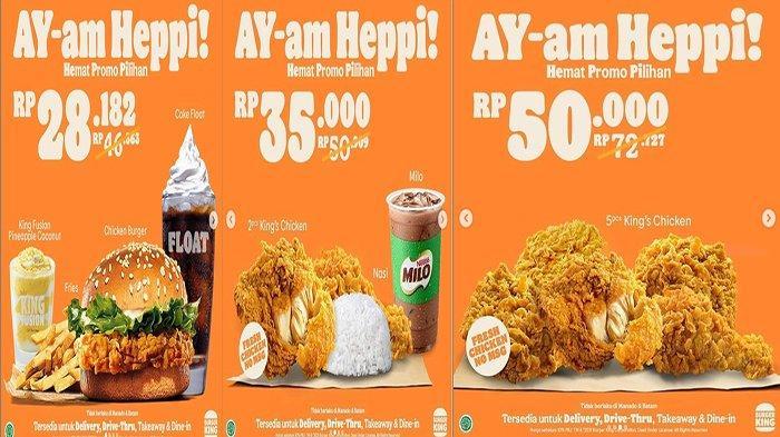 PROMO Burger King 21 Juni 2021, Nikmati Promo Hemat Ayam Heppi Mulai 28 Ribuan