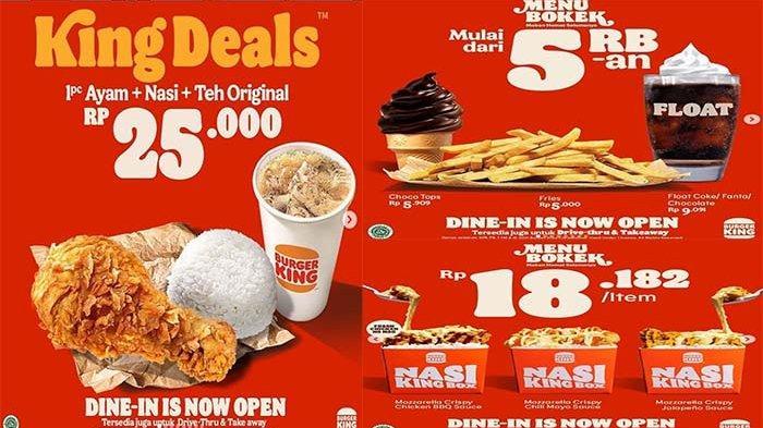 PROMO Burger King Hari Ini 14 September 2021 Terbaru, Ada Promo King Deals dan Menu Bokek Loh
