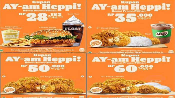 PROMO Burger King Hari Ini 29 Juni 2021 Terbaru, Promo Ayam Heppi Mulai 28 Ribu-an