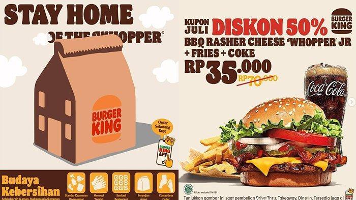 PROMO Burger King Hari Ini 3 Juli 2021, Nimati Promo Terbaru Mulai 35 Ribu dan Promo 2 for 35