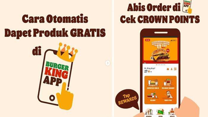 PROMO Burger King Hari Ini 6 Oktober 2021 Terbaru, Promo Gratis Dapatkan 10 Crown Point