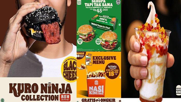 PROMO Burger King Hari Ini 6 September 2021, Wuiiiih Banyak Promo Nih Buruan Order !