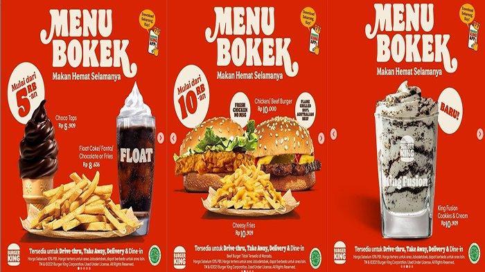 PROMO Burger King Hari Ini 7 Juli 2021, Promo Menu Bokek Mulai 5 Ribu-an Promo Hemat Bisa Makan Enak