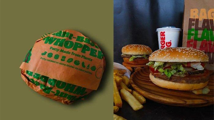 PROMO Burger King Hari Ini 7 September 2021, Promo Plant Based Whopper dan Whopper Jr Hanya 45 Ribu
