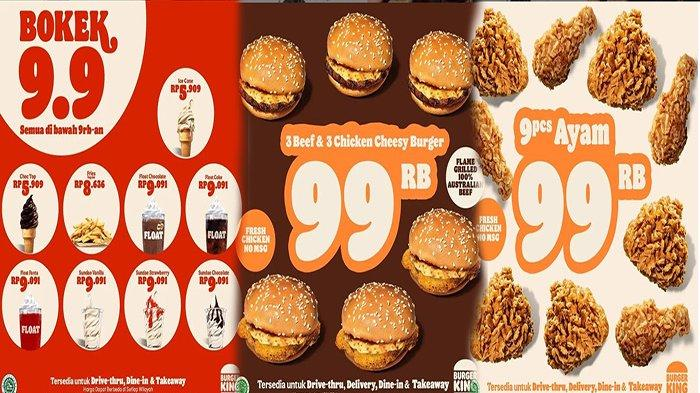 PROMO Burger King Hari Ini 9 September 2021, Ada Kemeriahan Promo 9.9 Ayo Serbuuuu
