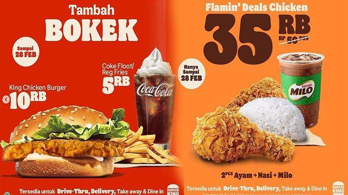 Promo Burger King Hari Ini Mulai Rp 20 Ribu-an Dari Menu Bokek Hingga Bayar 1 Dapatnya 2