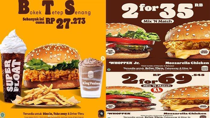 PROMO Burger King Juni 2021, Ada Promo BTS Loh Hanya Rp 27.273