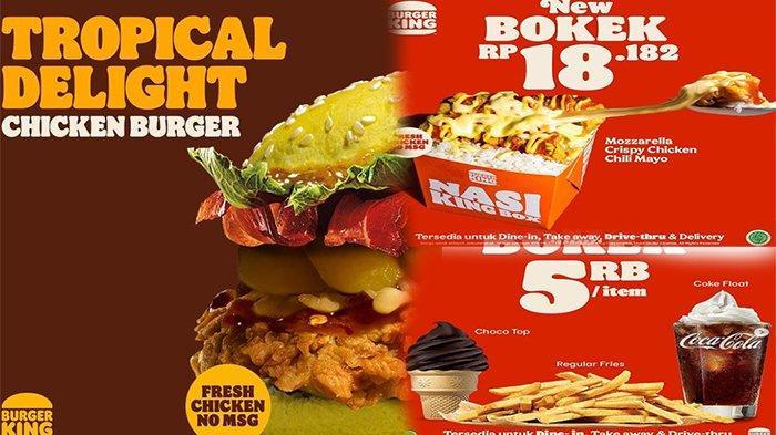 PROMO Burger King Mei 2021, Promo Bokek Mulai 5 Ribuan & Bebas Jajan Cash Back 5 Ribu