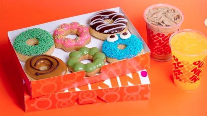 PROMODunkin Donuts Senin 22 Juni Beli 7 Gratis 5 Donut, Ada Menu Spagetti Balognese hingga Wafle