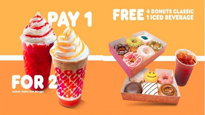 PROMO DUNKIN DONUTS Hari Ini 11 Juni 2021, Beli 1 Gratis 1 hingga Gratis 4 Donuts Classic