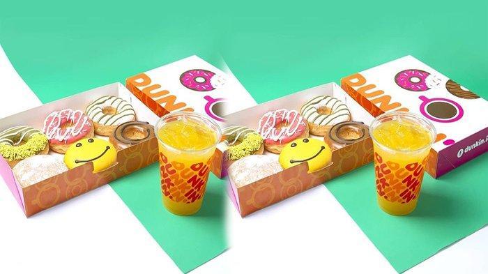 PROMO Dunkin Donuts Hari Ini 18 Mei 2021, Gratis 4 Donuts Classis dan 1 Iced Beverage