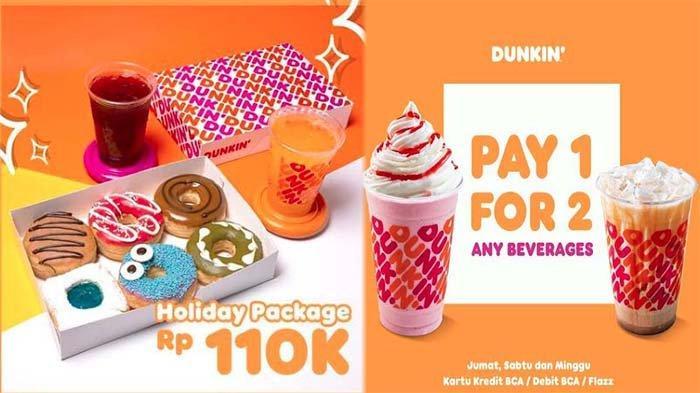 PROMO Dunkin Donuts Hari Ini 2 Juli 2021, Promo Holyday Package 12 Donuts Classic 3 Minuman Dingin