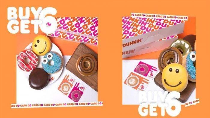PROMO Dunkin Donuts Hari Ini 30 Juni 2021, Promo DD Card Payday Beli 6 Gratis 6 Donuts Classic