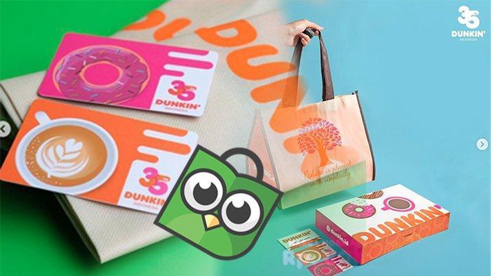 PROMO Dunkin Donuts Hari Ini, Hemat 35% Paket Pasangan Ecobag dan DD Card | Lihat di Tokopedia