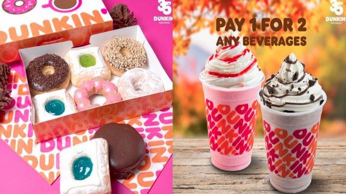 PROMO DUNKIN DONUTS November 2020, Beli 7 Gratis 5 Donut hingga Beli 1 Gratis 1 Semua Jenis Minuman