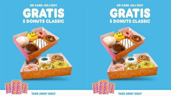 PROMO DUNKIN DONUTS Terbaru 5 Juli 2021, Happy Monday Gratis 5 Donuts Classic Selama Bulan Juli 2021