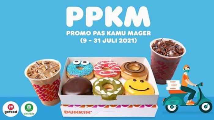 PROMO Dunkin Donuts Terbaru Hari Ini 10 Juli 2021, Promo PPKM Donuts Classic Mulai Rp 88 Ribu