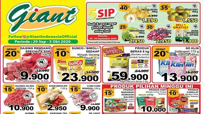 Katalog Promo Giant Sepekan Mulai 29 September Diskon Besar Temukan Produk Harga Spesial Giant Tribun Pontianak