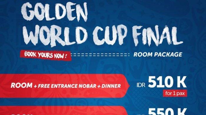 Golden Tulip Hotel Pontianak Tawarkan Ragam Promo Final Piala Dunia 2018