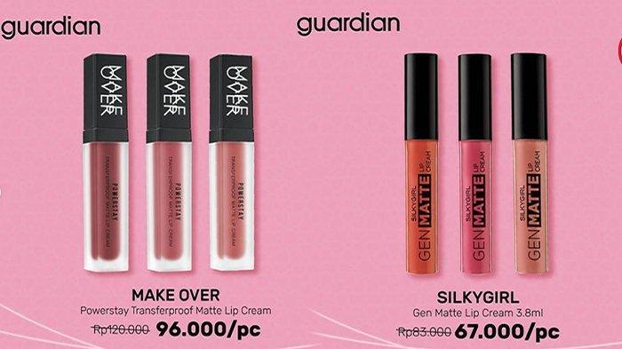 PROMO Guardian Terbaru, Lipstik Diskon Hingga 30 Persen & Beli 2 Gratis 1