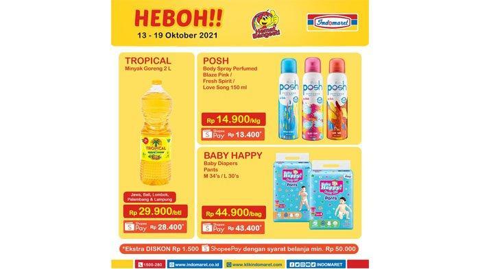 Promo Heboh Indomaret Periode 13 - 19 Oktober 2021.