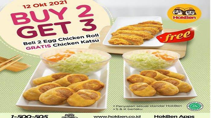 PROMO HokBen Hari Ini 12 Oktober 2021 Terbaru, Dapatin Chicken Katsu Gratis Promo Buy 2 Get 3