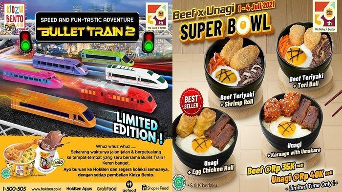 PROMO HokBen Hari Ini 2 Juli 2021, Beli Kidzu Bento Dapatkan Kereta Api Super Cepat Bullet Train
