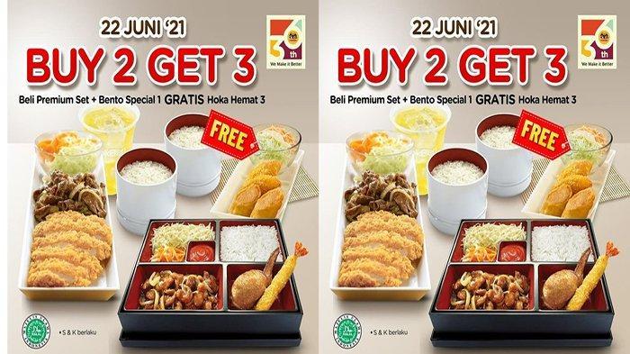 PROMO HokBen Hari Ini 22 Juni 2021 Promo Buy 2 Get 3