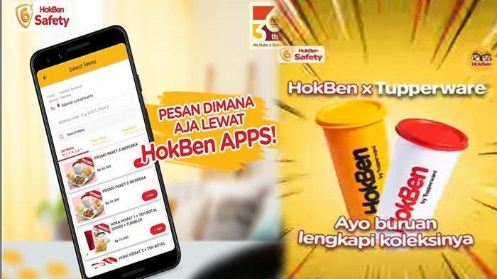 PROMO HokBen Hari Ini 22 September 2021 Terbaru, Dapatkan Tumbler HokBen x @tupperwareid