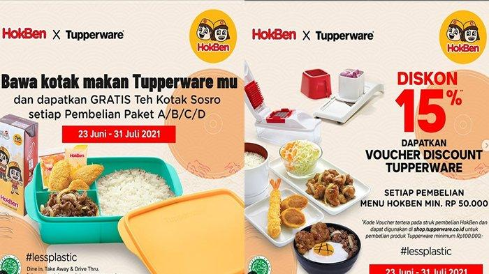 PROMO Hokben Hari Ini 25 Juni 2021, Dapatkan Diskon 15 Persen HokBen Berkolaborasi dengan Tupperware