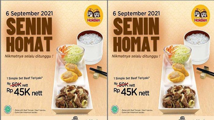 PROMO HokBen Hari Ini 6 September 2021, Promo Senin HoMat Harga Diskon Simple Set Beef Teriyaki
