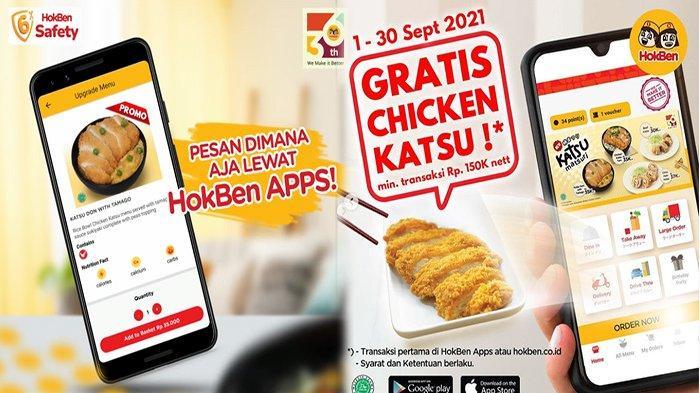 PROMO HokBen Hari ini 8 September 2021 Terbaru, Lagi Ada Gratis Chicken Katsu Lho!
