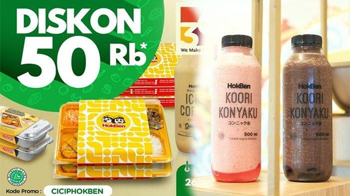 Promo HokBen Hari Ini Rabu 28 April 2021, Gratis 1 Botol Iced Coffee atau Koori Konyaku