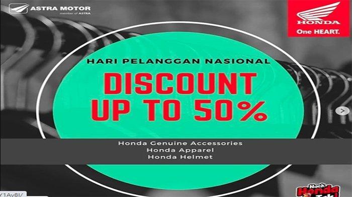 PROMO Honda Kalbar Hari Pelanggan Nasional 2020, Diskon 50% Apparel Hingga Aksesori | Cek Syaratnya