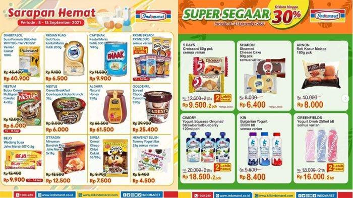 PROMO INDOMARET Hari Ini 14 September 2021, Promo Sarapan Hemat dan Super Segar Snack hingga Nugget