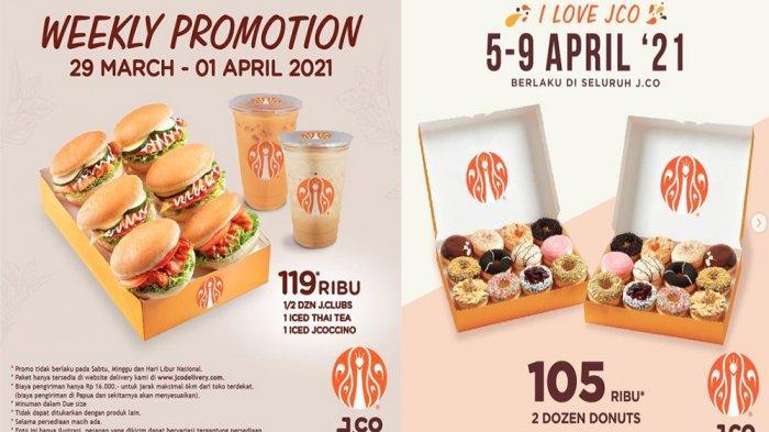PROMO JCO 29 Maret 2021 Paket Murah JCLUBS 1 Iced Thai Tea 1 Iced Jcoccino, Cek Promo JCO April 2021