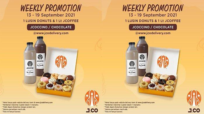 PROMO Jco Hari Ini 13 September 2021 Terbaru, Promo 1 Lusin JCO Donuts + 1 Liter JCOCCINO /Chocolate