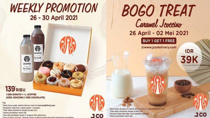 PROMO JCO Hari Ini 27 April 2021, Buka Puasa dengan 1 Lusin Donut + 1 L JCOFFEE Cuma Rp 139 Ribu