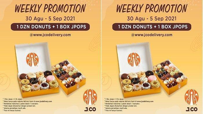 PROMO Jco Hari Ini 4 September 2021 Hingga 5 September, Promo Hemat Beli 1 Lusin Donut + 1 Box JPOPS