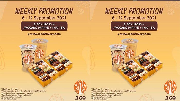 PROMO Jco Hari Ini 6 September 2021, Harga Hemat 2 box JPOPS + Avocado Frappe + Thai Tea
