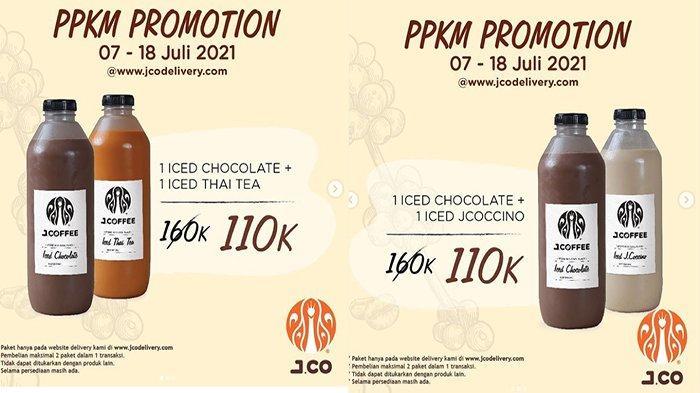 PROMO Jco Hari Ini 8 Juli 2021, PPKM Promo Beli 2 Botol JCOFFEE Ukuran 1 Liter Harga Lebih Hemat