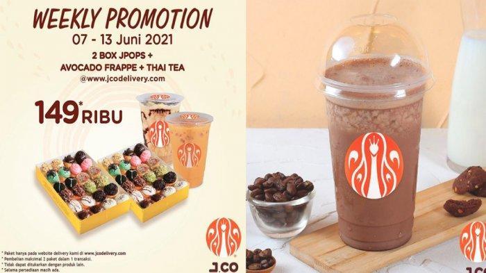 PROMO JCO Hari Ini Selasa 8 Juni 2021, Nikmati 4 Lusin JPOPS 1 Avocado Frappe 1 Iced Thai Tea Hemat