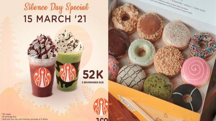 PROMO JCO Khusus Hari Ini 15 Maret 2021, Spesial Hari Raya Nyepi 2 Minuman Ukuran Due Rp 52 Ribu