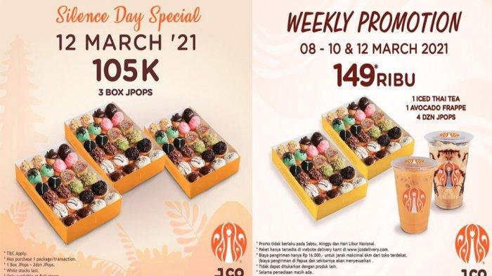 PROMO JCO Maret 2021 Spesial Sambut Hari Raya Nyepi 3 Box JPOPS hanya Rp 105 Ribu, Cek Promo Lainnya