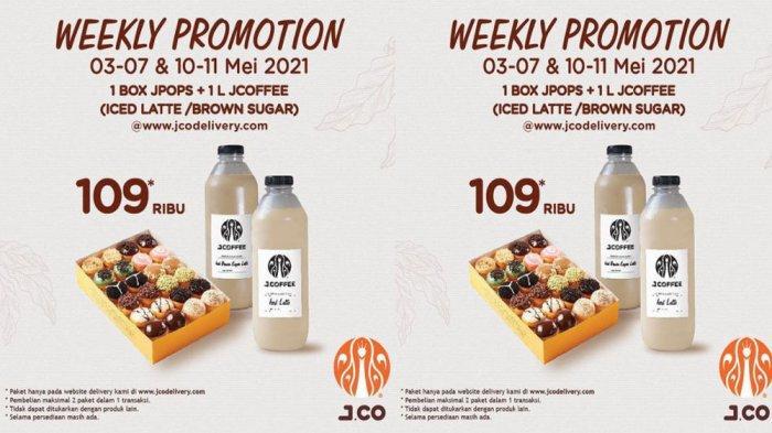 PROMO JCO Terbaru Hari Ini 3 - 7 Mei 2021, Nikmati 1 Box JPOPS + 1 L JCOFFEE Hemat Banget