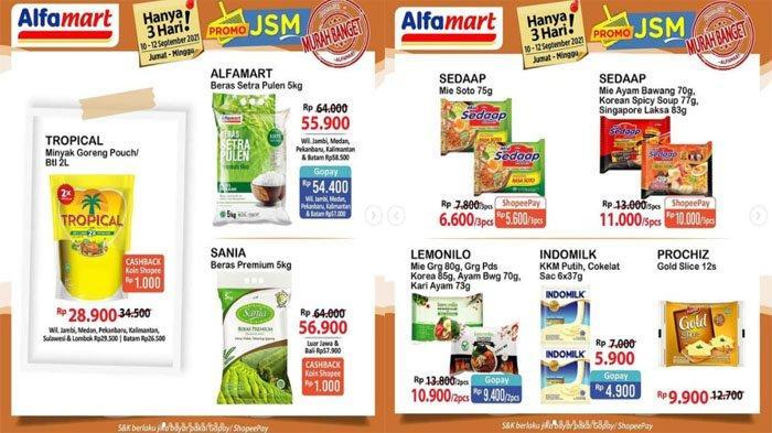 KATALOG PROMO JSM ALFAMART Terbaru 10 - 12 September 2021, Beras Minyak Goreng Susu & Murah Banget