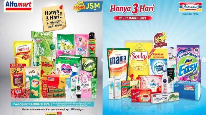 Promo JSM Alfamart 5 - 7 Maret 2021 & Promo JSM Indomaret 5-7 Maret 2021, Serbu Diskon Hanya 3 Hari