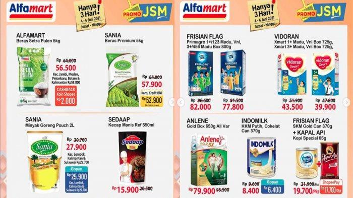 PROMO JSM ALFAMART 6 Juni 2021 Beras Susu Deterjen Tinggal Hari Ini, Cek Promo Alfamart Lainnya